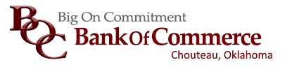 The Bank of Commerce Logo and link to the banks home page